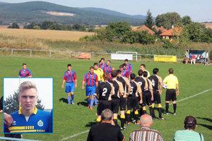 Archívna fotka zo štadióna v Čiernych Kľačanoch. Vo výreze Lukáš Tonka.
