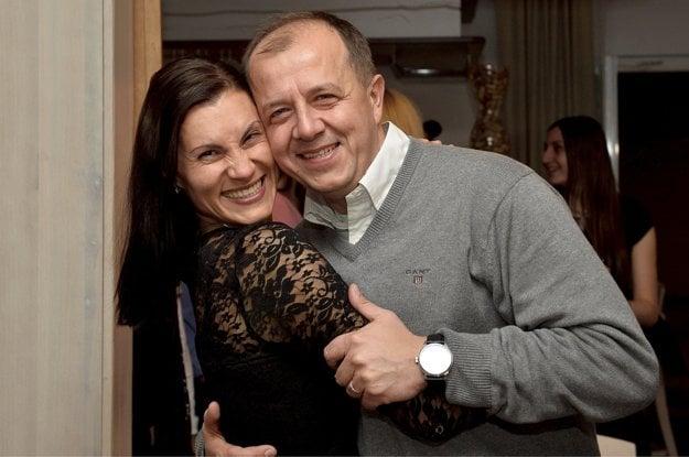 Richard Rybníček s manželkou Luciou.