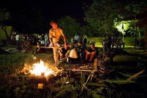 Vlani v lete sa v Hideparku konal festival Elektro. Na vyhradených miestach sa dá večer zohriať pri ohni, alebo si opekať.
