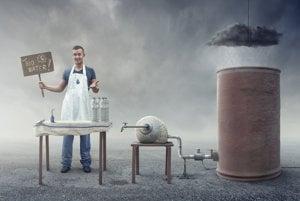 Obchodník s bio vodou.