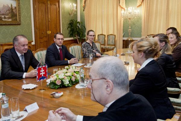 Kiska prijal predstaviteľov Asociácie na ochranu práv pacientov.