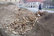 Tisícky kostí vzbudzovali pozornosť okoloidúcich.