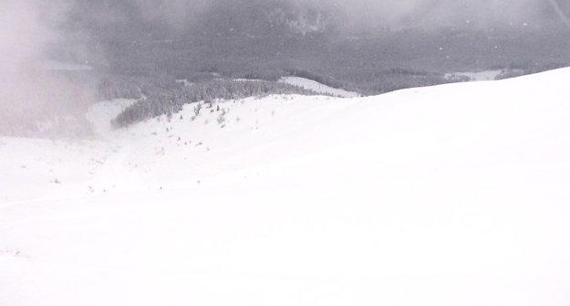 Odtrhnutá lavíny Roháčoch.