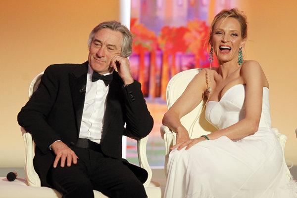 Uma Thurman už bola v hlavnej porote festivalu v Cannes, keď je predsedal Robert de Niro.