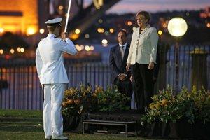 Kancelárka Angela Merkelová v austrálskom Sydney na summite G 20.