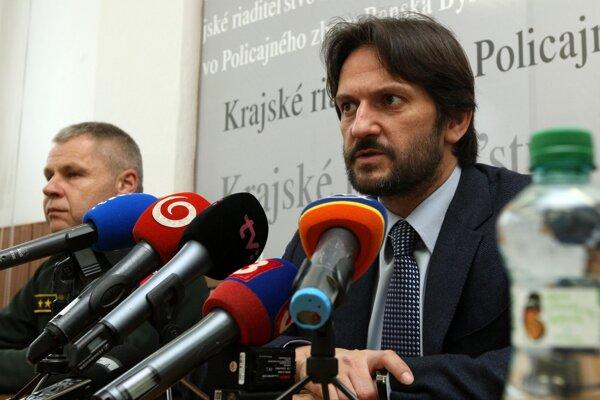 Róbert Kaliňák sa dnes v Banskej Bystrici pustil do opozičných politikov Matoviča a Sulíka.