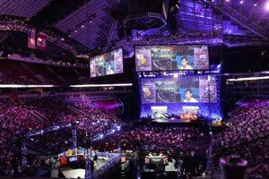 Pohľad na dejisko Dota 2 turnaja The International v americkom meste Seattle.