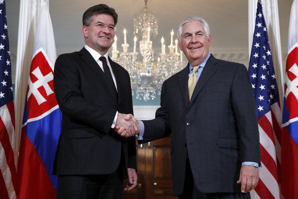 Miroslav Lajčák a Rex Tillerson.