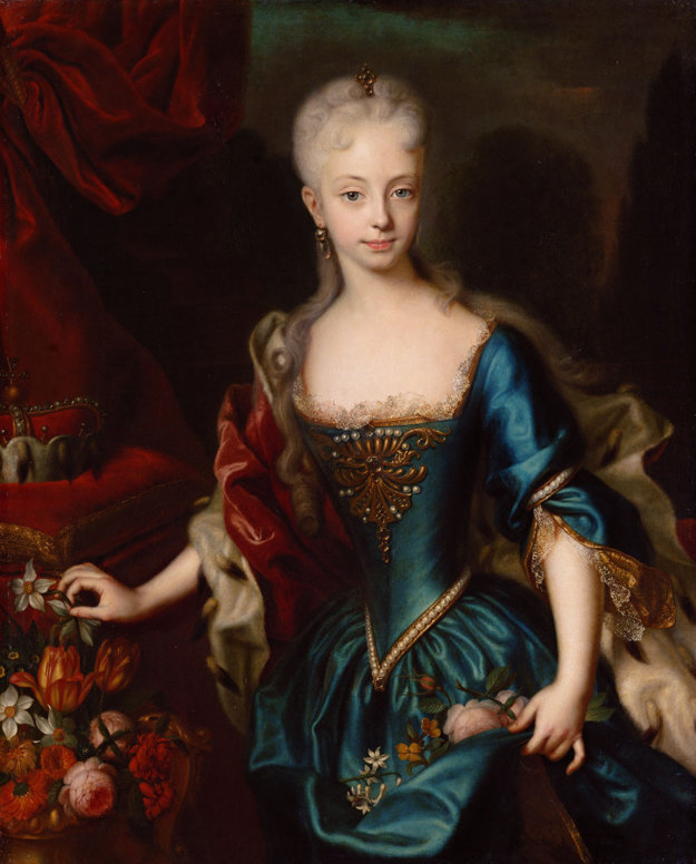 Mária Terézia vo veku približne 11 rokov.