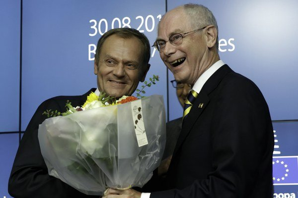 Donald Tusk (vľavo) a Herman Van Rompuy.