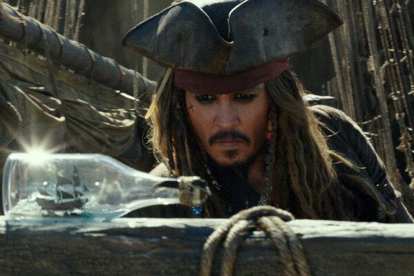 Johnny Depp v Prirátoch z Karibiku 5.