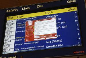 Vírus napadol aj systém nemeckých železníc.