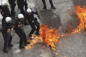 Štrajkujúci Gréci, 17.máj 2017.