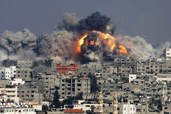 Nálety ničia Gazu.