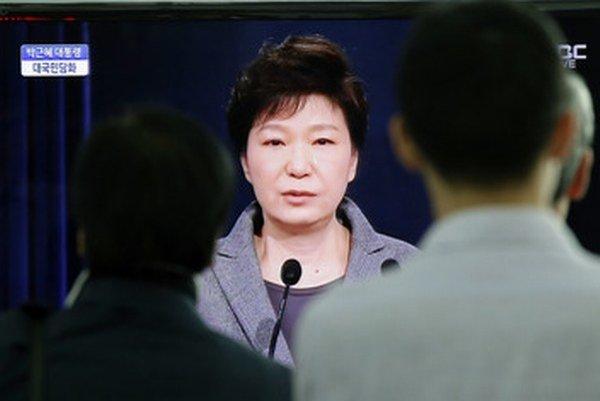 Juhokórejská prezidentnka Pak Kun-hje.