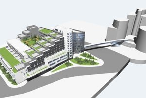 Vizualizácia budúceho centra.
