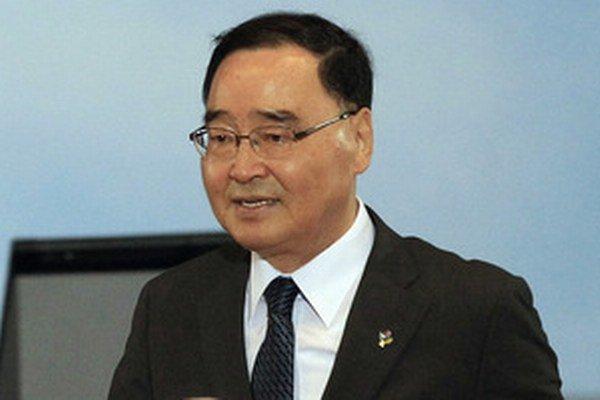 Juhokórejský premiér Čung Hong-won.