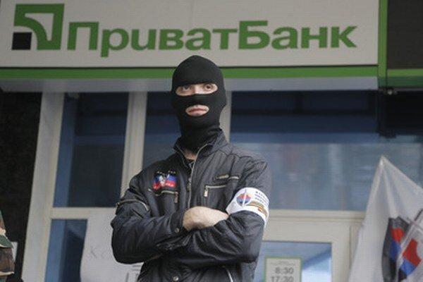 Proruský separatista v Donecku.