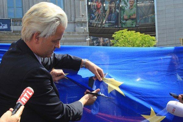 Geert Wilders, šéf holandskej krajne pravicovej Strany slobody.
