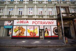 Potraviny Delia na Špitálskej ulici v Bratislave.