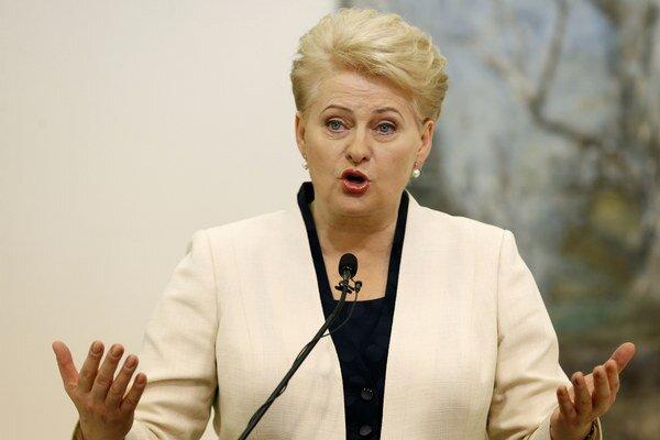 Staronová litovská prezidentka Dalia Grybauskaite.