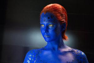 Jennifer Lawrence ako Mystique vo filme X-Men: Budúca minulosť.