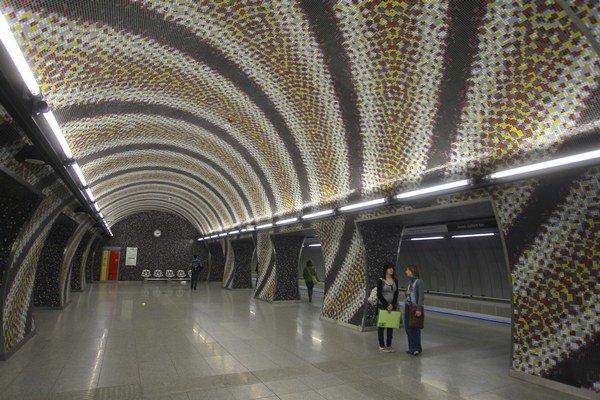 Stanica novej linky metra.