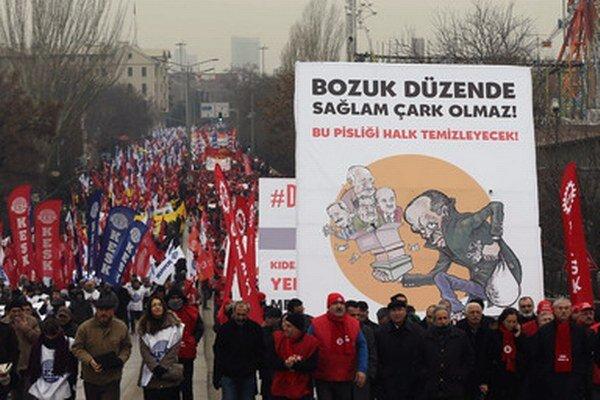 Demonštrácia v Ankare.