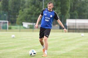 Na snímke hráč FK Senica Róbert Pillár na prvom tréningu v letnej príprave na jesennú časť Fortuna ligy v Senici v roku 2016.