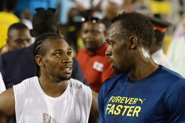 Yohan Blake (vľavo) s Usainom Boltom.