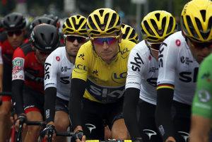 Aj v tretej etape Tour de France nesie žltý dres Geraint Thomas z tímu Sky.