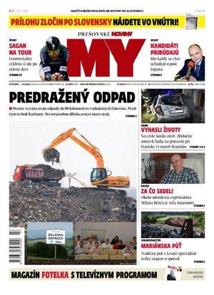 Titulná strana týždenníka MY Prešovské noviny č. 26/2017.