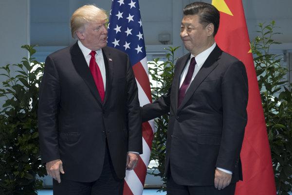 Americký prezident Donald Trump s čínskym prezidentom Si Ťin-pchingom.