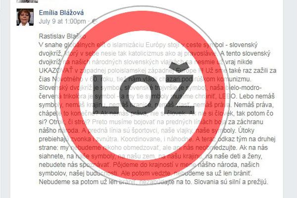 Nezmyselný text o zákaze štátneho znaku šíri aj predseda Matice slovenskej.