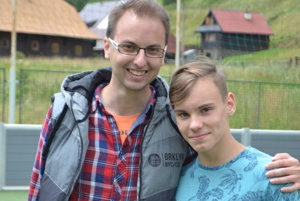 Prezident KorzárLandu. S detským premiérom Tobiasom.