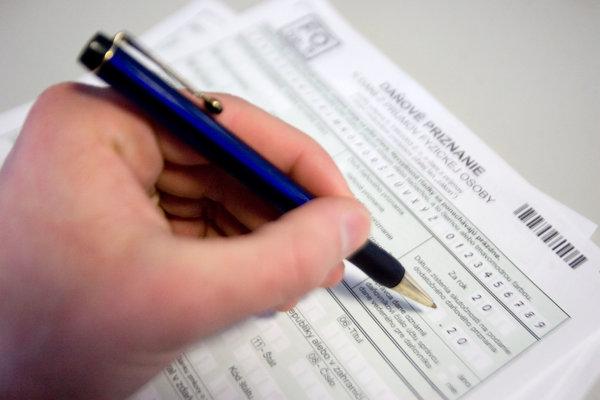 Daňové priznanie - ilustračná fotografia.