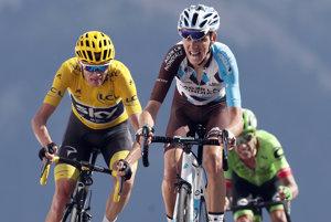 Víťaz Tour de France 2017 s najväčšou pravdepodobnosťou vyjde z trojice Chris Froome (vľavo), Romain Bardet (v strede) a Rigoberto Urán.
