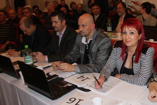 Ešte stále členka Klubu nezávislých poslancov Denisa Uhrinová so šéfom klubu Romanom Šírom.