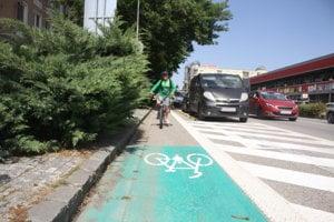 Cyklotrasa na Hlavnej ulici.