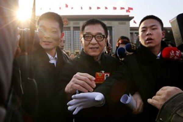 Jackie Chan v Pekingu.