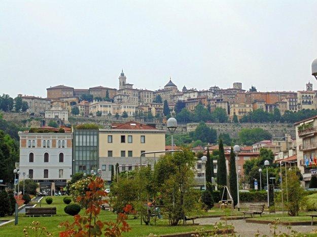 Pohľad na Cittá Alta z Porta Nuova