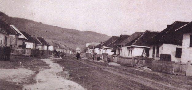 Obec Malá Vieska v 40. r. 20. storočia.