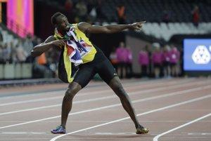 Usain Bolt sa aj napriek prehre lúčil spôsobom jemu vlastným.