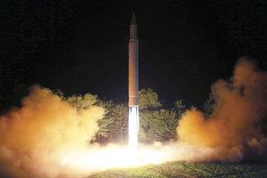 Severokórejská raketa Hwasong-14.