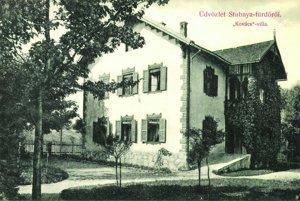 Kováčova vila v Štubnianskych Tepliciach, ktorú stavali kremnickí tesári.