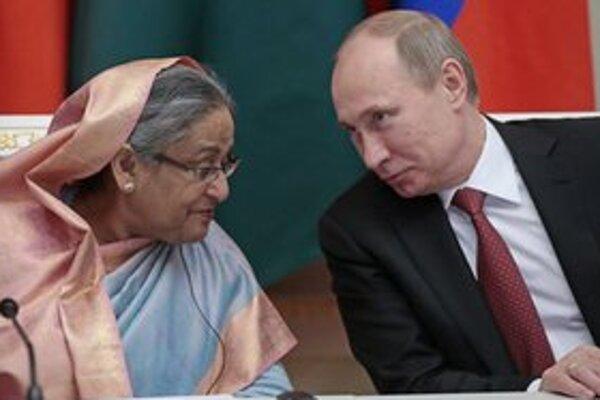 Vladimir Putin príjma bangladéšsku premiérku.