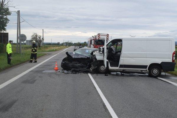 Dopravná nehoda pri Čečejovciach.