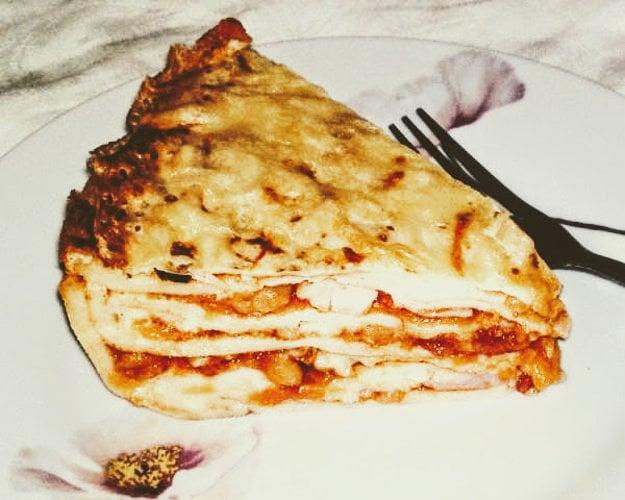 Zapekané palacinky à la lasagne.