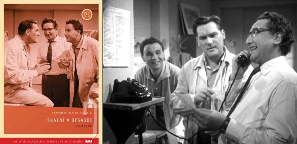 Skalní v ofsajde, legendárna slovenská komédia z roku 1960. Trojicu priateľov, ktorí sa chcú dostať na futbalový zápas si zahrali Anton Mrvečka, František Dibarbora a Arnošt Garlaty.