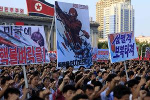 Režim zorganizoval masívne protesty proti sankciám OSN.